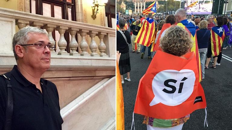 katalonien  Jordi Sendra separatistpolitiker i regionparlamentet Janzon