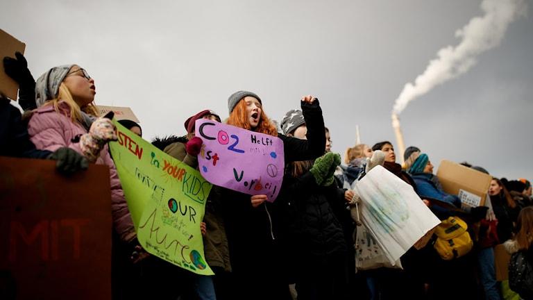Demonstration i Berlin mot kolbrytningen.