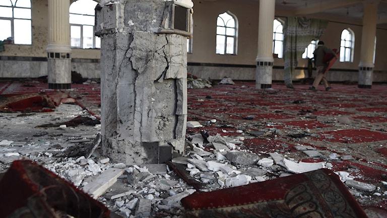 Moskén en dag efter dådet.