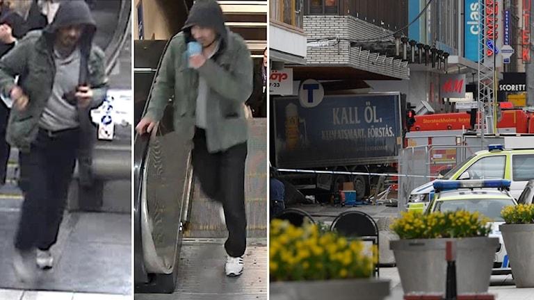 Anhållne 39-åringen och lastbilen på Drottninggatan