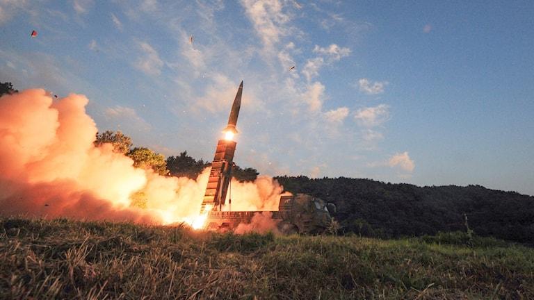 En missil testskjuts.