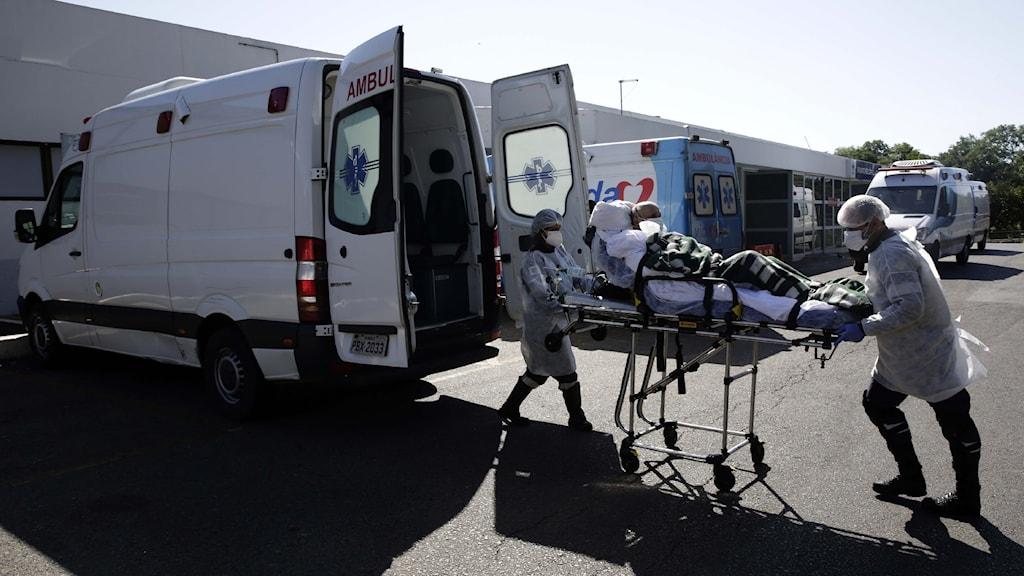 Sjukvårdsarbetare i Brasilia, Brasilien.