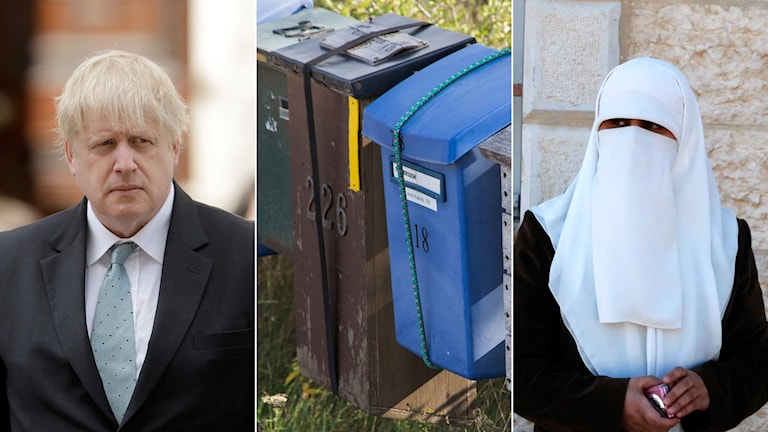 Boris Johnson, postlåda, brevlåda, burka