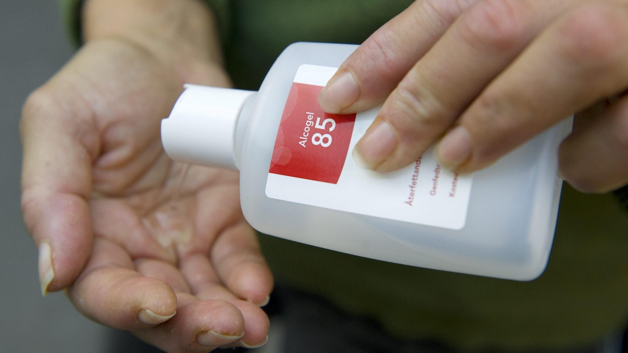 Många apotek har slut på handsprit