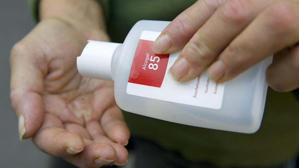 Många apotek har slut på handsprit.