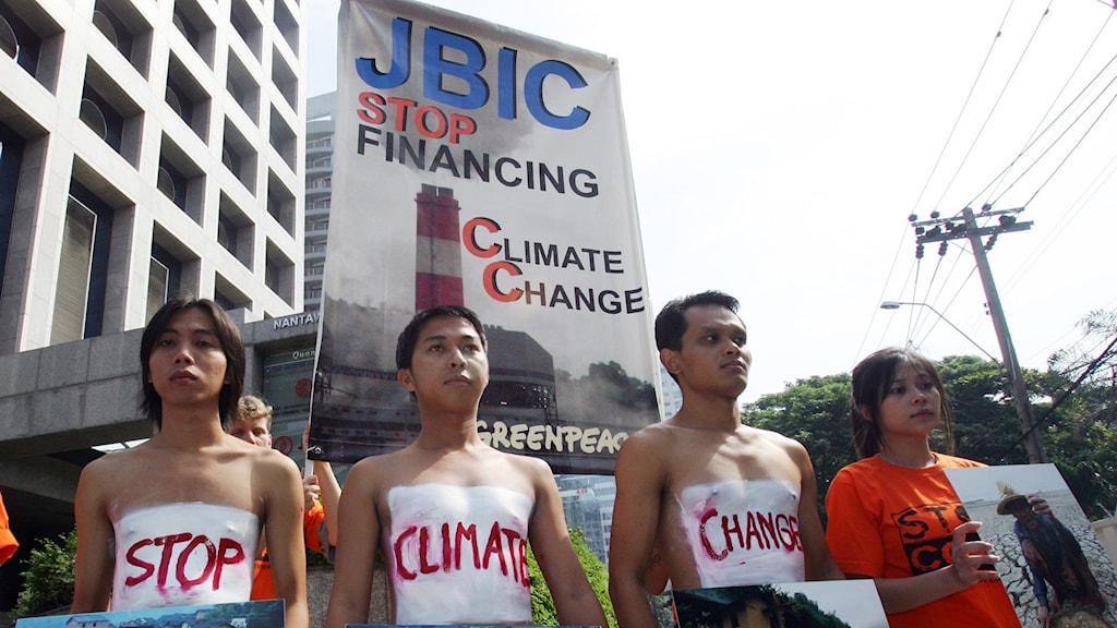 Protester mot kolkraft