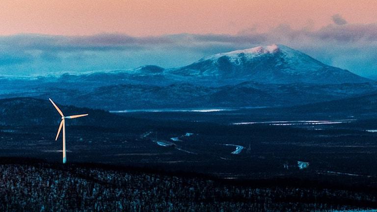 Vindkraftverk i Kiruna.