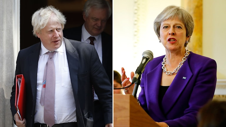 Boris Johnson och Theresa May