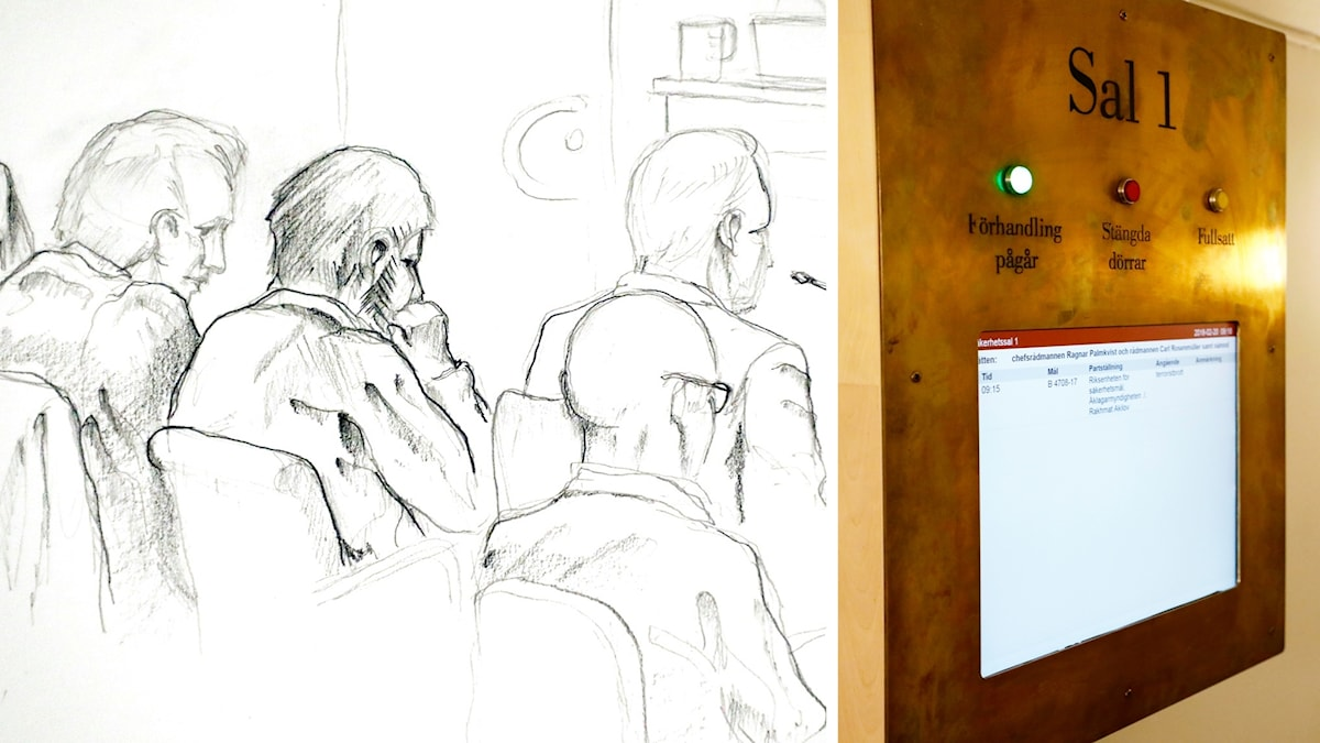 Arkivbild. Skiss från rättssalen.
