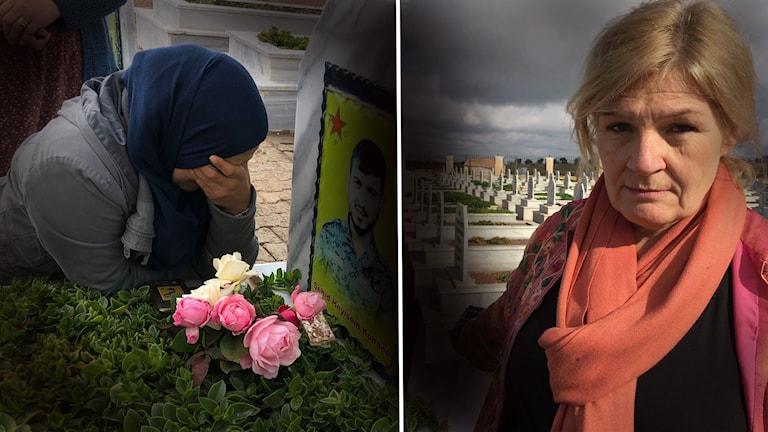 Cecilia Uddén i Syrien