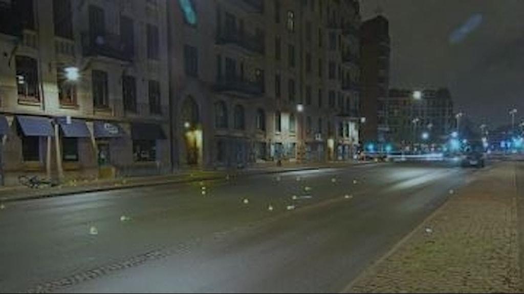 Här exploderade den bomb där polisen fann DNA från en lokal nazistledare.