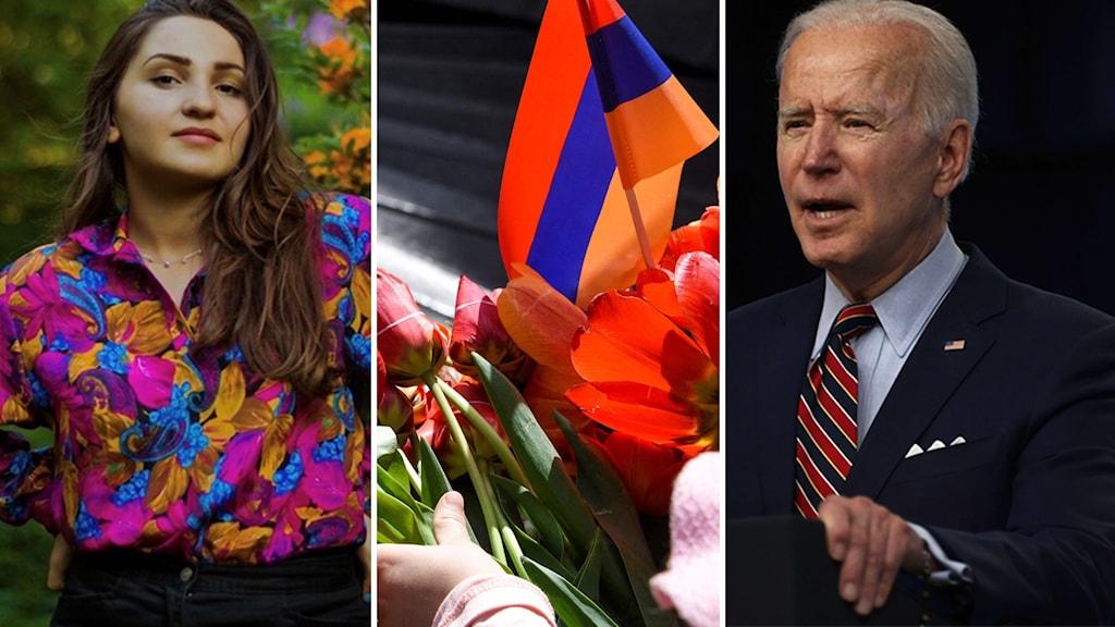 Inesa Rubinyan, Inesa Rubinyan, svensk-armenier i Uppsala och ledamot i Armeniska riksförbundet, och USA:s president Joe Biden.