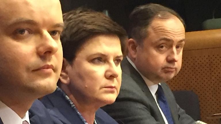 Polens premiärminister Beata Szydlo var ilsken.