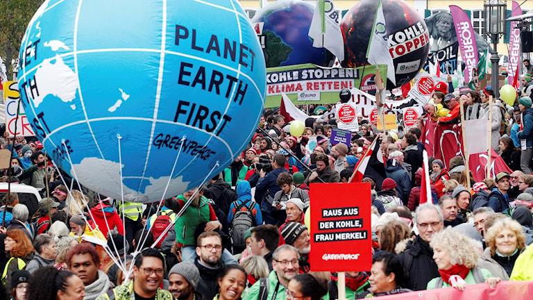 Demonstration inför klimatmötet i Bonn
