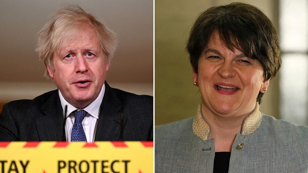 Boris Johnson och Arlene Foster.