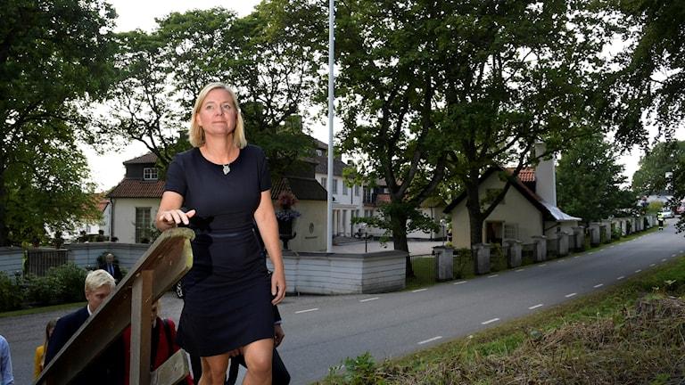 Finansminister Magdalena Andersson på Harpsund