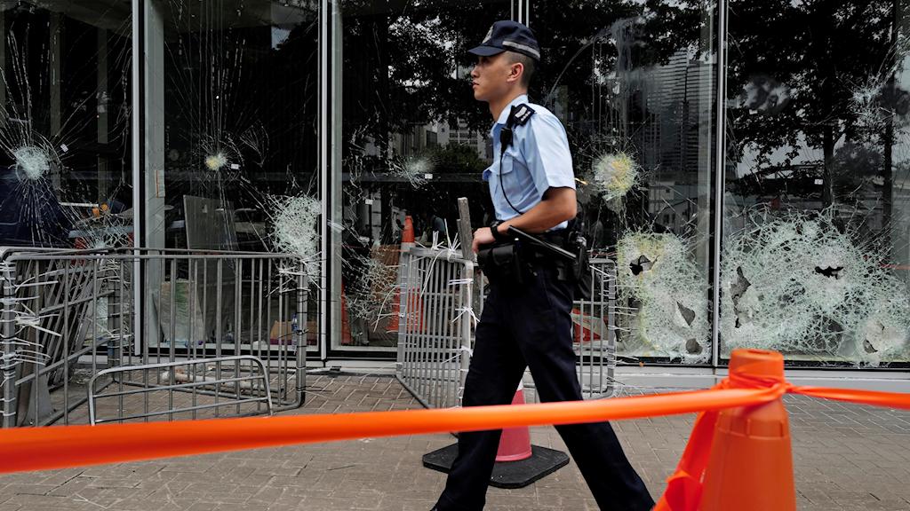 Dagen efter protesterna i Hongkong.