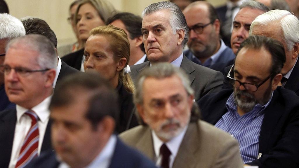 Partiets kassör Luis Bárcenas i rätten.