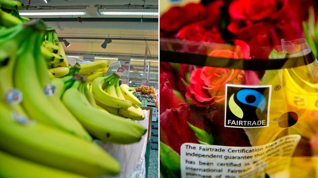 Bananer och rosor