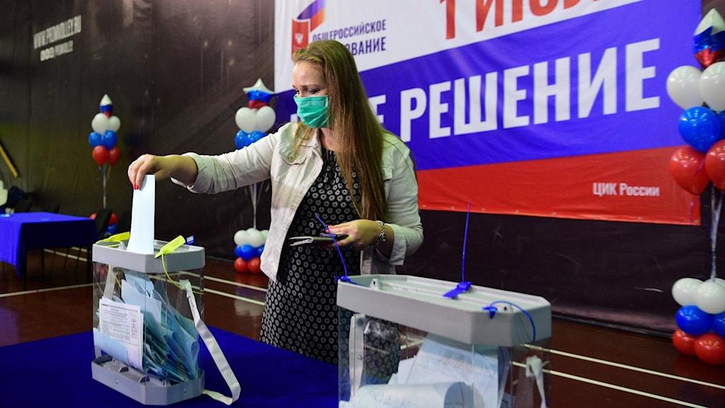 Ryssland röstar om förändringar i grundlagen