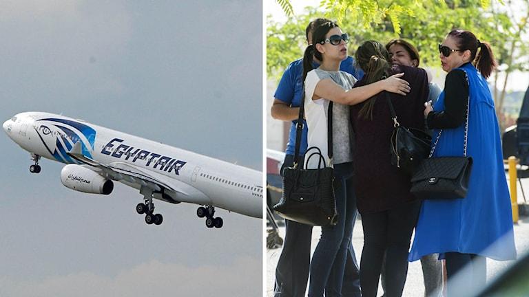 Anhöriga till passagerare på det försvunna EgyptAir-planet.