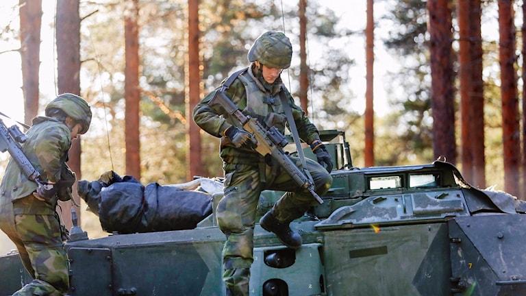 Norrbottens regemente förbereder sig inför en Natoövning, arkivbild.