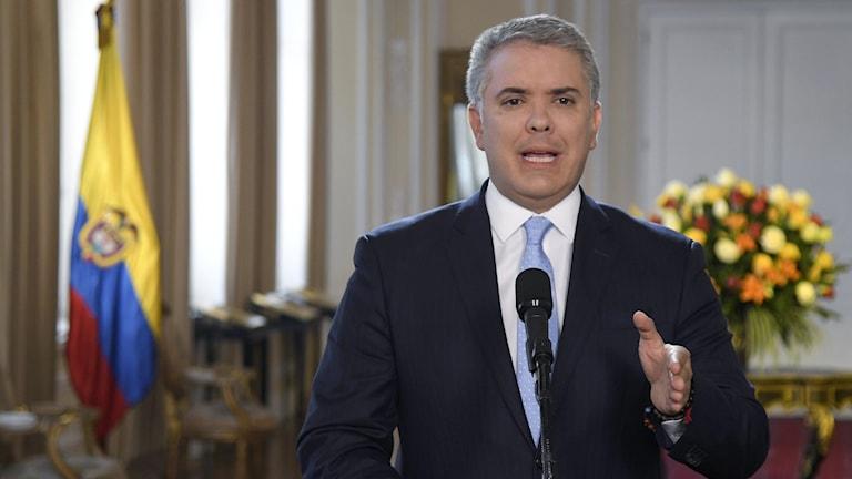 Colombias president Iván Duque.