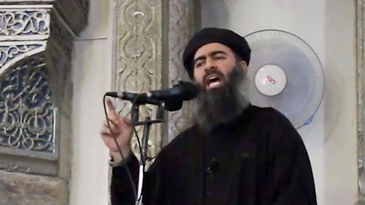 Arkivfoto på IS-ledaren al Baghdadi.