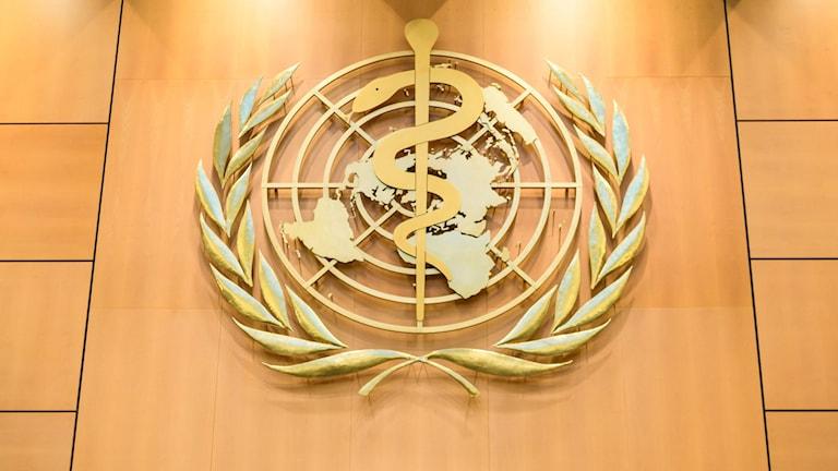 Logga: Världshälsoorganisationen, WHO.