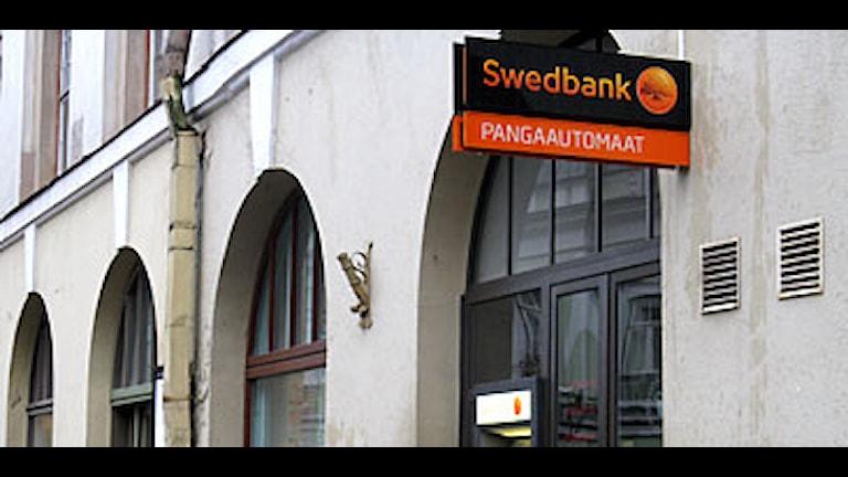 Ett Swedbankkontor i Tallinn i Estland. Foto: Christer Fridén/SR.