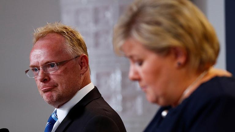 Pressekonferanse med statsminister Erna Solberg.