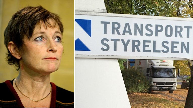 Maria Ågren och Transportstyrelsen logga.