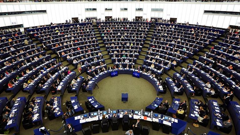 EU parlamentet i Strasbourg.