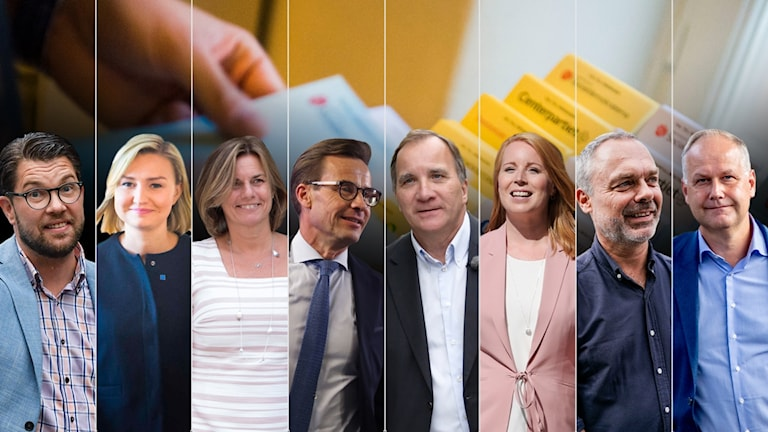 Partiledarna för riksdagspartierna.