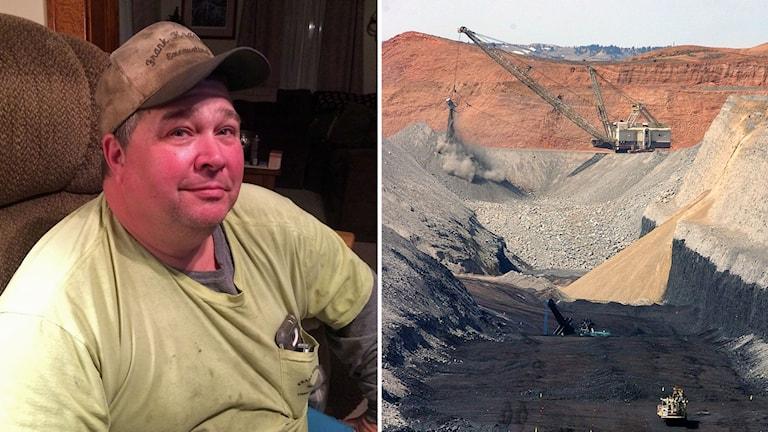 Delad bild: Frank Krammes och en kolgruva i USA.
