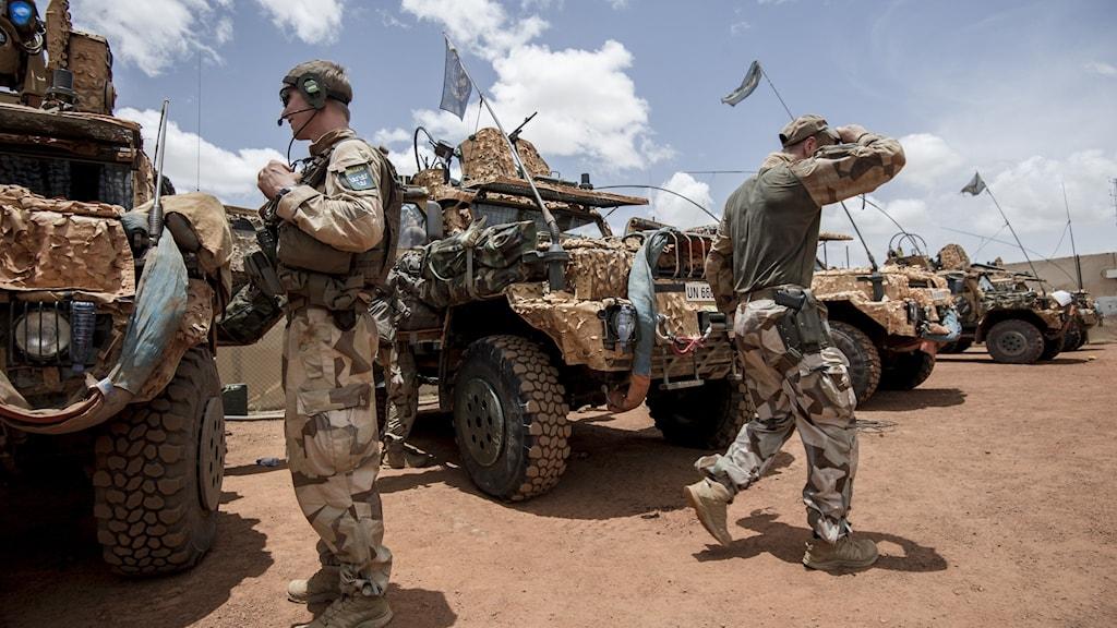 Svenska styrkor i Mali. Pressbild från 2016.