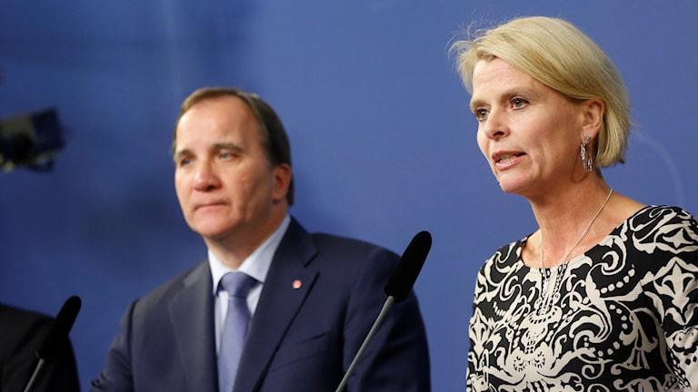 Stefan Löfvén och Åsa Regnér
