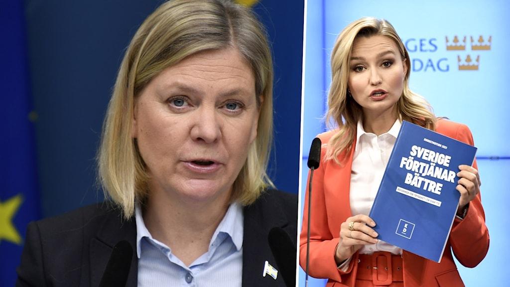 Sveriges finansminister Magdalena Andersson kommenterar beskeden som KD-ledaren Ebba Busch gav i Ekots lördagsintervju.