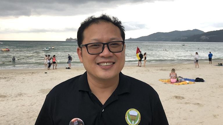 Prechawot Keesin vid Patongs lokala turistorganisation på Phuket.