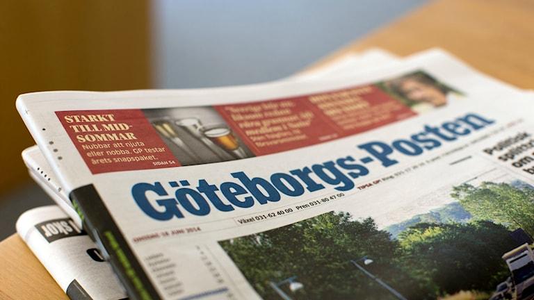 Ett exemplar av tidningen Göteborgs-Posten som ingår i Stampenkoncernen.