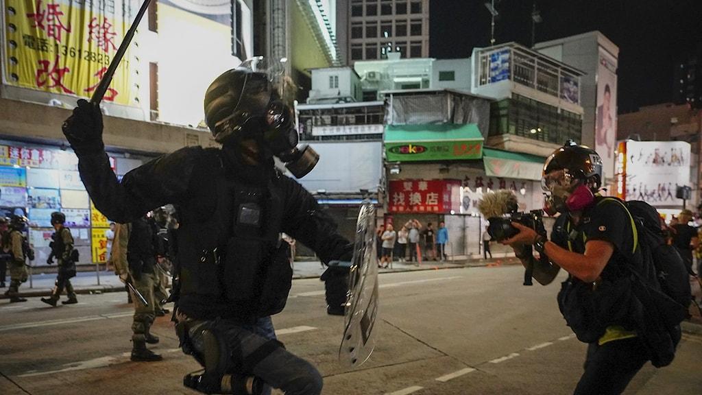 Demonstrationer i Hongkong tidigare i oktober.