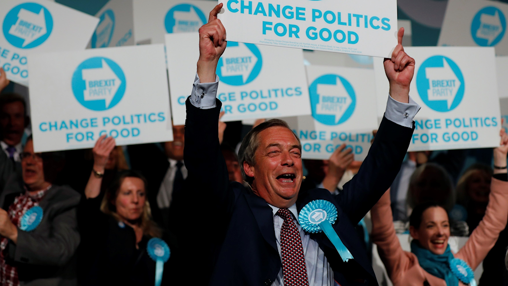 Brexitpartiets ledare Nigel Farage.