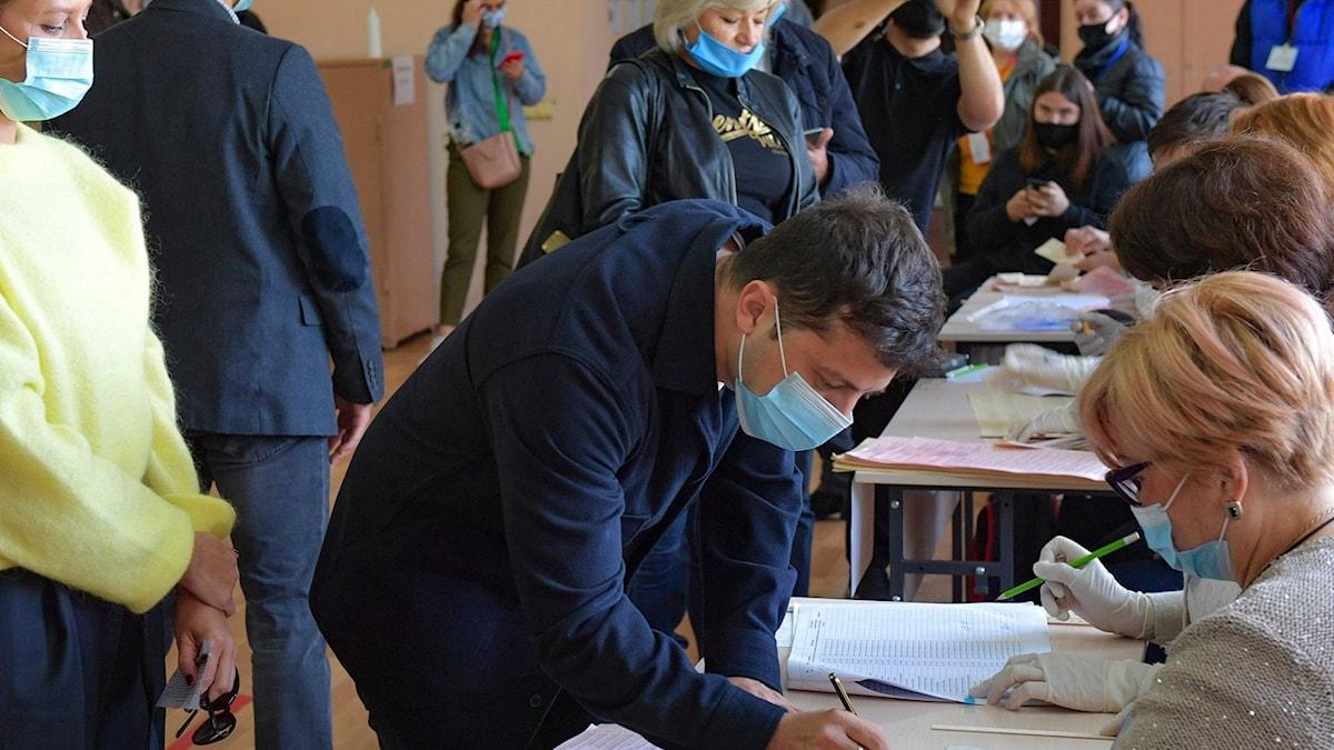 Oväntad comeback i Ukrainskt val