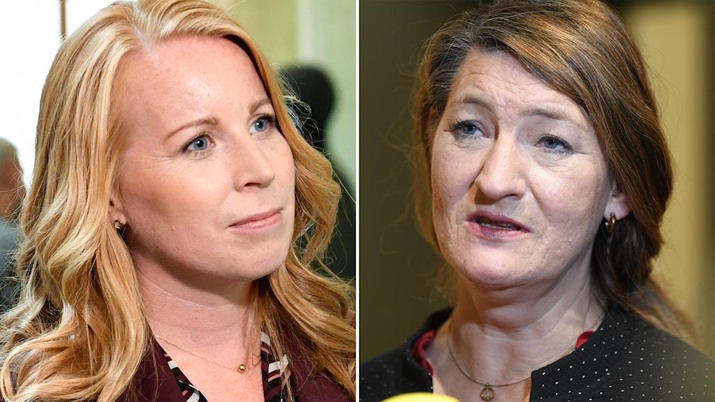 Centerpartiets ledare Annie Lööf och LO:s ordförande Susanna Gideonsson.