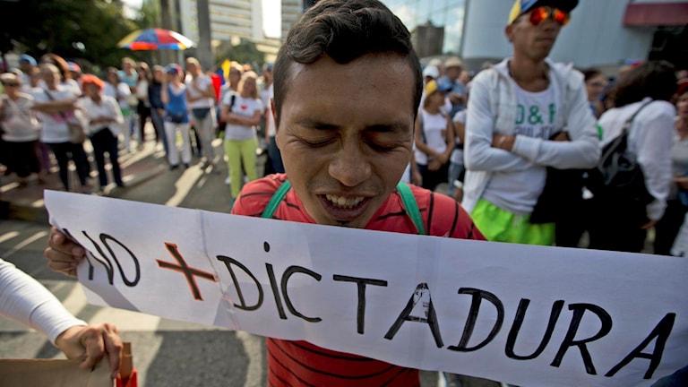 Protesterna mot presidenten i Venezuela