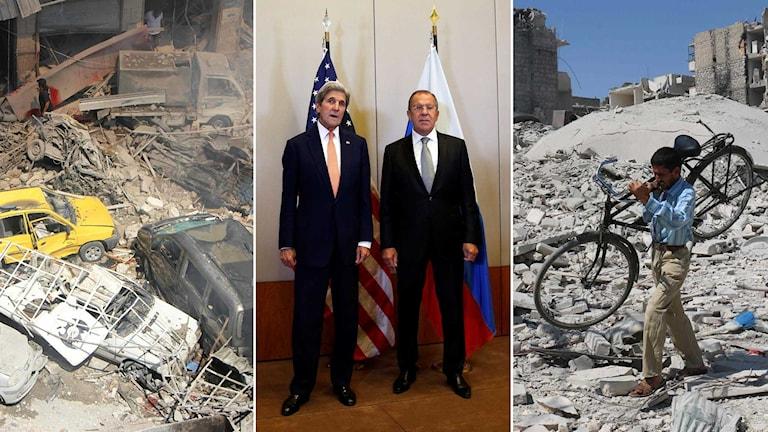 Den amerikanska utrikesministern John Kerry och hans ryske motpart Sergej Lavrov