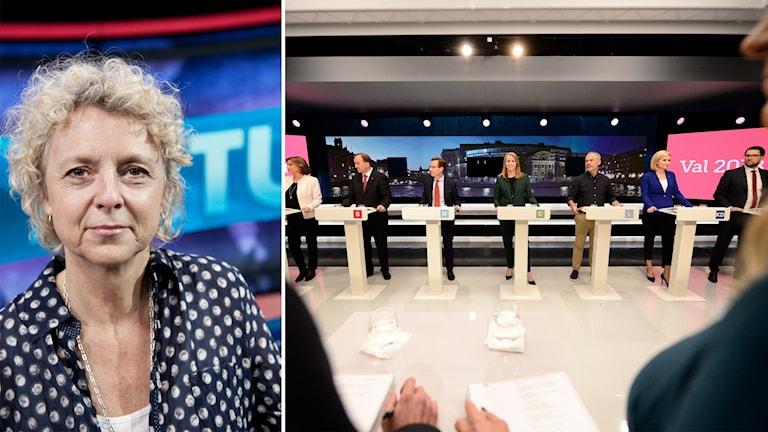 SVT:s valgeneral Eva Landahl.
