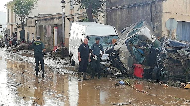 Stor förödelse efter ovädret i Sant Llorenc (10 oktober). Foto: Juan Pedro Martinez/TT.