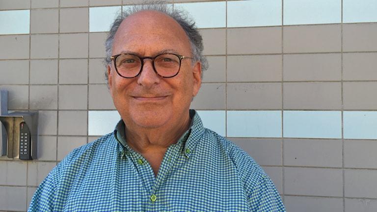 Freddy Gellberg, ordförande i judiska församlingen i Malmö. Foto: Natacha López/ Sveriges Radio