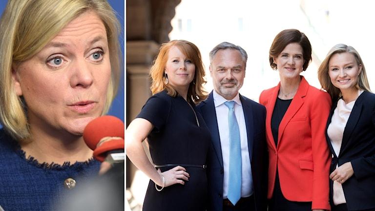 Alliansen och Magdalena Andersson